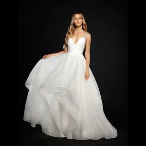 Hayley paige dare embellished wedding gown 6704